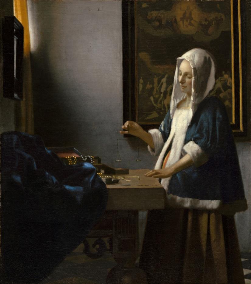 Vermeer tasadora de perlas