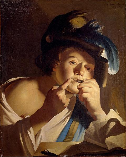 Dirck_van_Baburen_Joven tocando el birimbao
